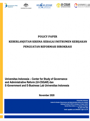 Policy Paper Keberlanjutan KRISNA sebagai Instrumen Kebijakan Penguatan Reformasi Birokrasi