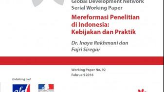 GDN Mereformasi Penelitian di Indonesia