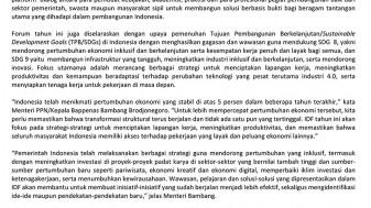 Peluncuran Indonesia Development Forum 2019