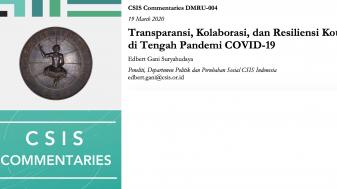 Transparansi, Kolaborasi, dan Resiliensi Kota di Tengah Pandemi COVID-19