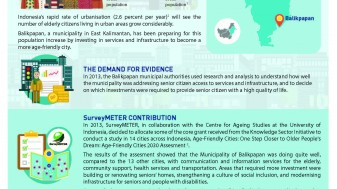 The Contribution of Research in Promoting Balikpapan's Age-Friendly City Policy
