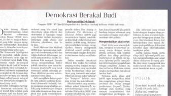 Demokrasi Berakal Budi