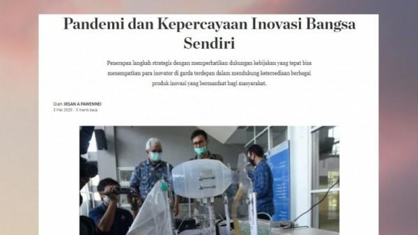 Pandemi dan Kepercayaan Inovasi Bangsa Sendiri