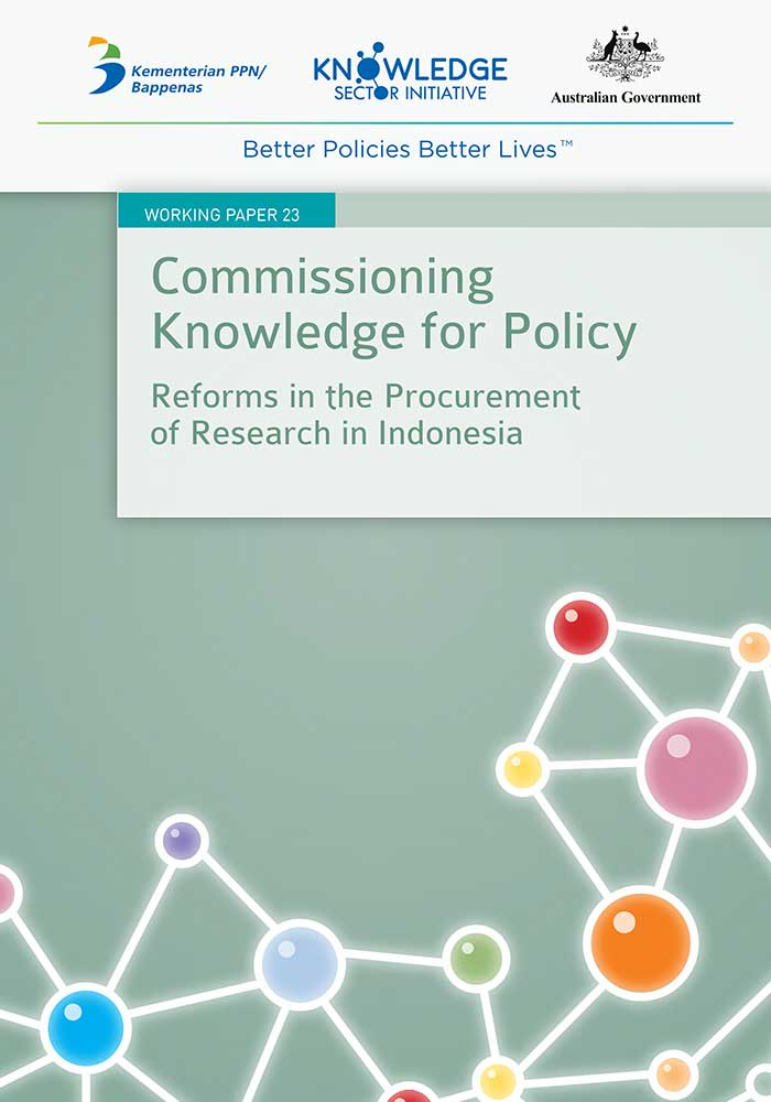 Working Paper -</br>Commissioning Knowledge for Policy: Reforms in the Procurement of Research in Indonesia