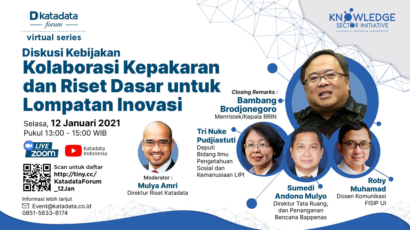 Diskusi Kebijakan: Kolaborasi Kepakaran dan Riset Dasar untuk Lompatan Inovasi