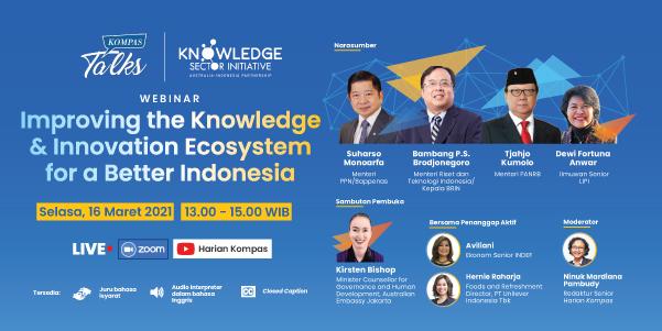 KSI - Kompas Talks: Improving the Knowledge & Innovation Ecosystem for a Better Indonesia