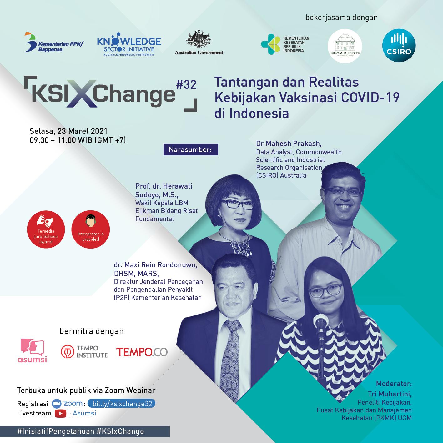 KSIxChange #32: Tantangan dan Realitas Kebijakan Vaksinasi COVID-19 di Indonesia